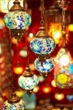 Turkiska flerfärgade lampor Royaltyfria Bilder