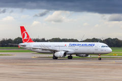 turkiska flygbolag för flygbuss a321 Arkivfoto