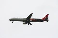 turkiska flygbolag för flygbuss a321 Fotografering för Bildbyråer