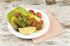 Turkiska foods; cigkofte Royaltyfri Bild