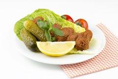 Turkiska foods; cigkofte Arkivfoton