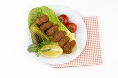 Turkiska foods; cigkofte Fotografering för Bildbyråer
