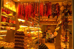 Turkiska fröjder shoppar Royaltyfri Fotografi