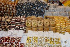 Turkiska fröjder, traditionella turkiska sötsaker Royaltyfria Foton