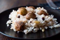 Turkiska kastanjebruna ris/Kestaneli Pilav Royaltyfria Foton