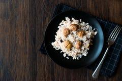 Turkiska kastanjebruna ris/Kestaneli Pilav Arkivbild