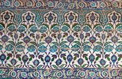 Turkiska keramiska tegelplattor, Istanbul Royaltyfria Bilder