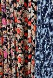 turkiska klänningtyger Arkivbilder