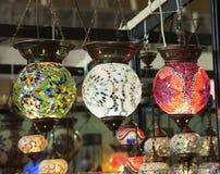 turkiska lampor Arkivfoto