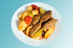 turkiska matizmir meatballs Royaltyfri Fotografi