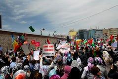turkiska muslimprotestors royaltyfria foton