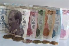 Turkiska pengar Fotografering för Bildbyråer