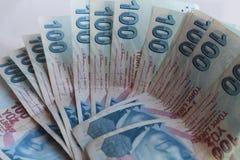 Turkiska pengar Royaltyfri Bild