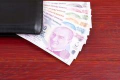 Turkiska pengar i den svarta plånboken