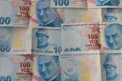 turkiska sedlar FÖRSÖK för turkisk Lira eller TL arkivfoto