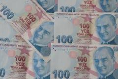 turkiska sedlar FÖRSÖK för turkisk Lira eller TL royaltyfri fotografi