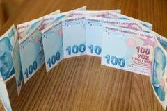 turkiska sedlar FÖRSÖK för turkisk Lira eller TL royaltyfri bild