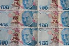 turkiska sedlar FÖRSÖK för turkisk Lira eller TL royaltyfri foto