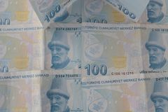 turkiska sedlar FÖRSÖK för turkisk Lira eller TL arkivfoton