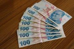 turkiska sedlar FÖRSÖK för turkisk Lira eller TL fotografering för bildbyråer