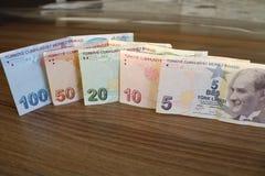 turkiska sedlar FÖRSÖK för turkisk Lira eller TL royaltyfria foton