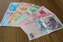 turkiska sedlar FÖRSÖK för turkisk Lira eller TL royaltyfria bilder