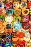 Turkiska stearinljushållare Arkivbilder