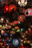 turkiska storslagna lampor för basar Royaltyfria Bilder