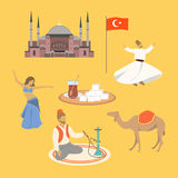 Turkiska symboler vektor illustrationer