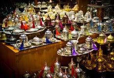 Turkiska tekrukor i Istanbul Fotografering för Bildbyråer