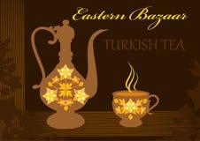 Turkiskt dricka för te Fotografering för Bildbyråer