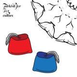 Turkiskt för Fez kultur vektor illustrationer