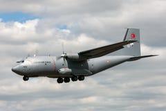 Turkiskt flygplan 69-032 för flygvapenTurk Hava Kuvvetleri Transall C-160D militärt last Arkivfoto
