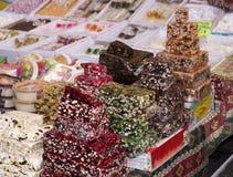 Turkiskt handla för sötsaker Fotografering för Bildbyråer