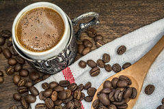 Turkiskt Kaffe-grek kaffe Fotografering för Bildbyråer
