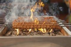 Turkiskt kebabgaller Arkivbilder