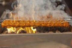 Turkiskt kebabgaller Fotografering för Bildbyråer