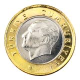 Turkiskt mynt, baksida Royaltyfria Bilder