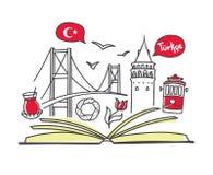 Turkiskt språk royaltyfria bilder