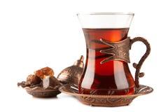 Turkiskt te i ett exponeringsglas Fotografering för Bildbyråer