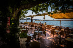 Turkiskt te och kafé i sommarställe Royaltyfri Bild