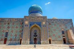 Turkistanmausoleum, Kazachstan stock afbeelding