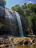 Turkiye Bursa Suuctu Waterfall Stock Photos