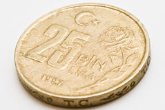 Turkiye Cumhuriyeti 25 Bin Coin Back Stock Photo