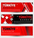 Turkiye Turkey modern banner template vector illustration