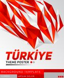 Turkiye Turkey theme modern poster, vector template illustration vector illustration