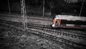 Turkiye vermelho Istambul do ehite preto do trem fotos de stock
