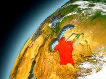 Turkmenistán de la órbita de Earth modelo Foto de archivo libre de regalías