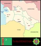Turkmenistan Administrative divisions Royalty Free Stock Photos