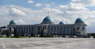 Turkmenistan - Ashgabat, Medjlis palace of parlament. White palaces of Ashgabat capital Stock Images